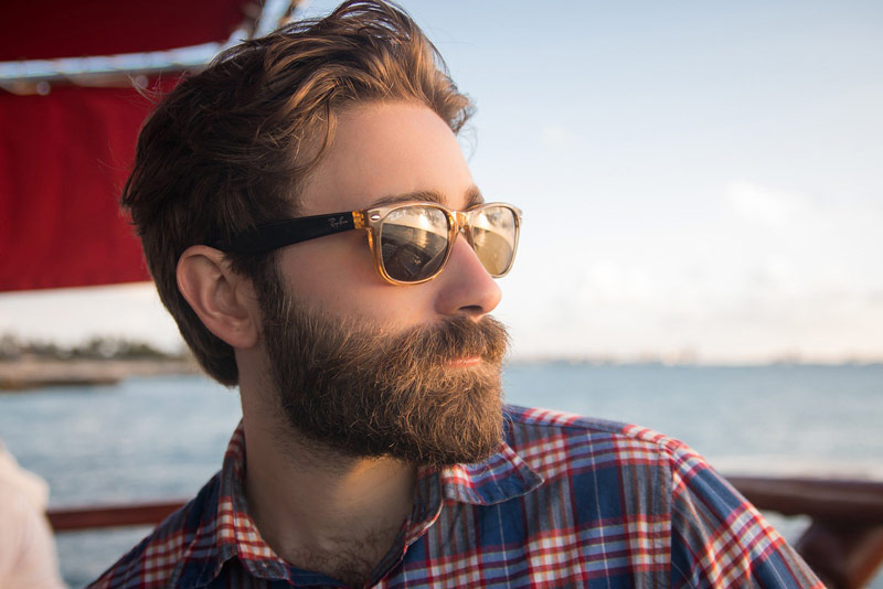 Bearded Man with Shades | 2019 Best Beard Styles for Men with Short Hair