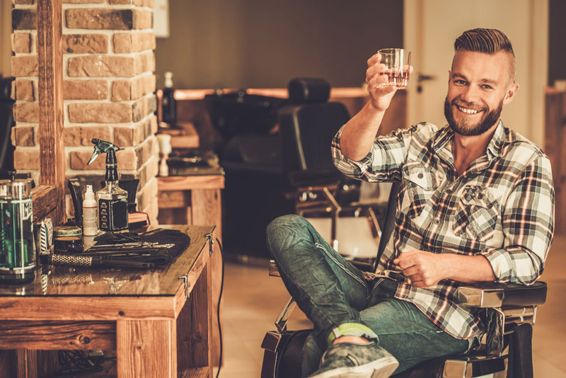 Bearded Man Drinking | What Is A Lumbersexual? (It's More Than Just A Thick Beard)