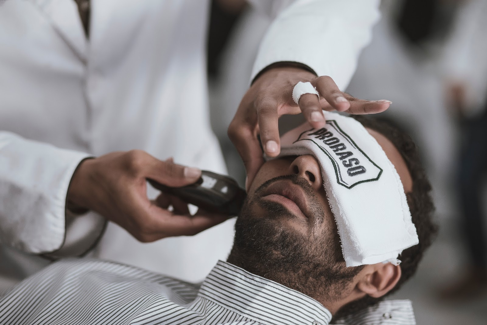 Man Having His Beard Shaved | 10 Added Benefits Of A Professional Beard Trim