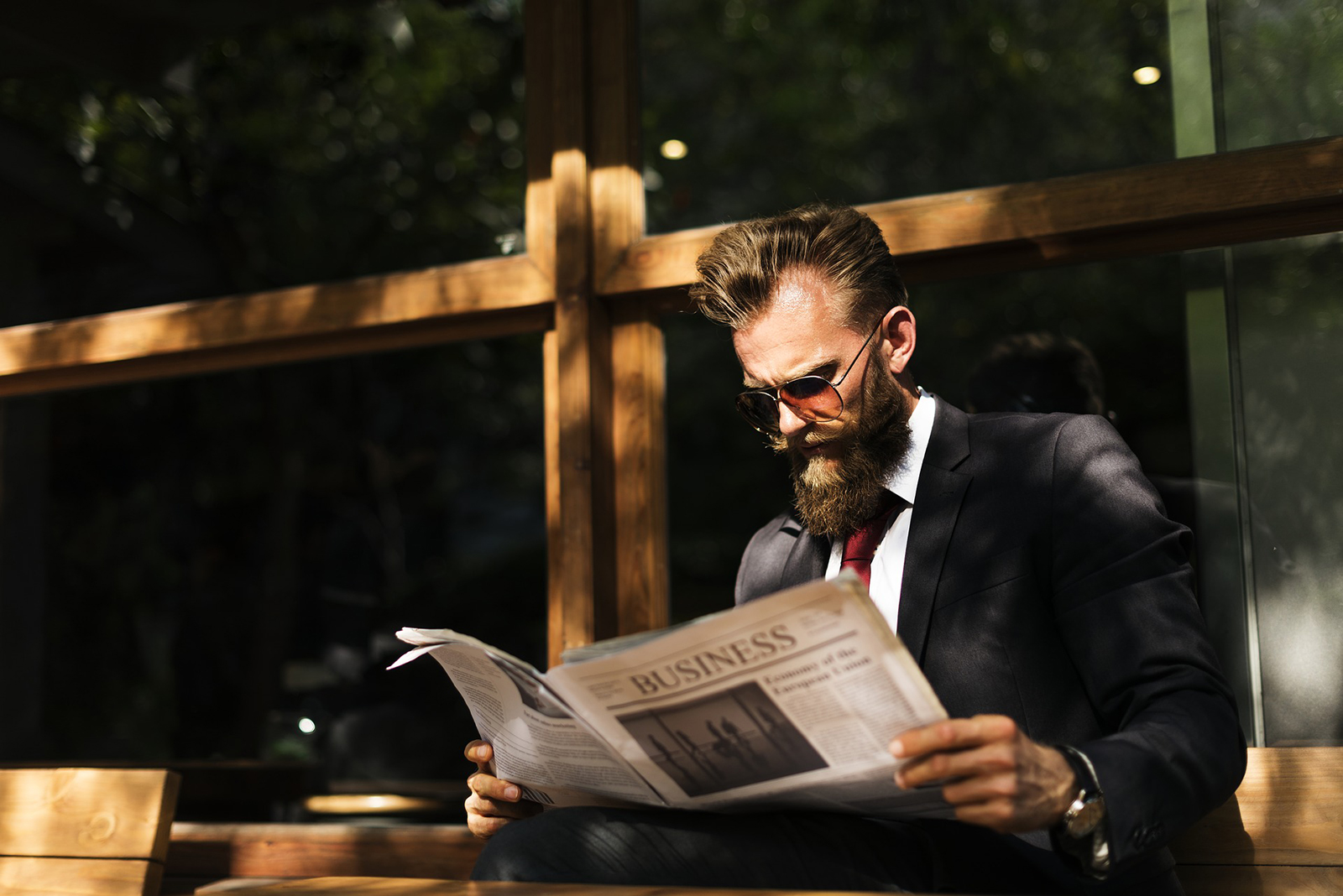 Man Reading Newspaper | 6 Top Trending Hairstyles For Guys With Beards in 2020