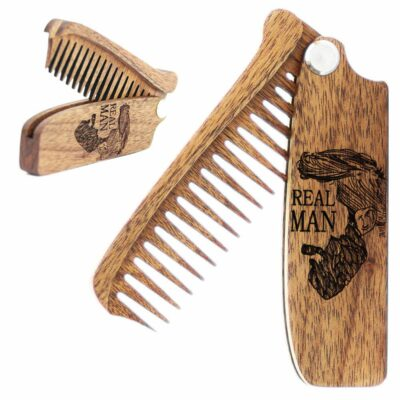 Small Folding Beard Comb - Pocket Beauty Tools For Men