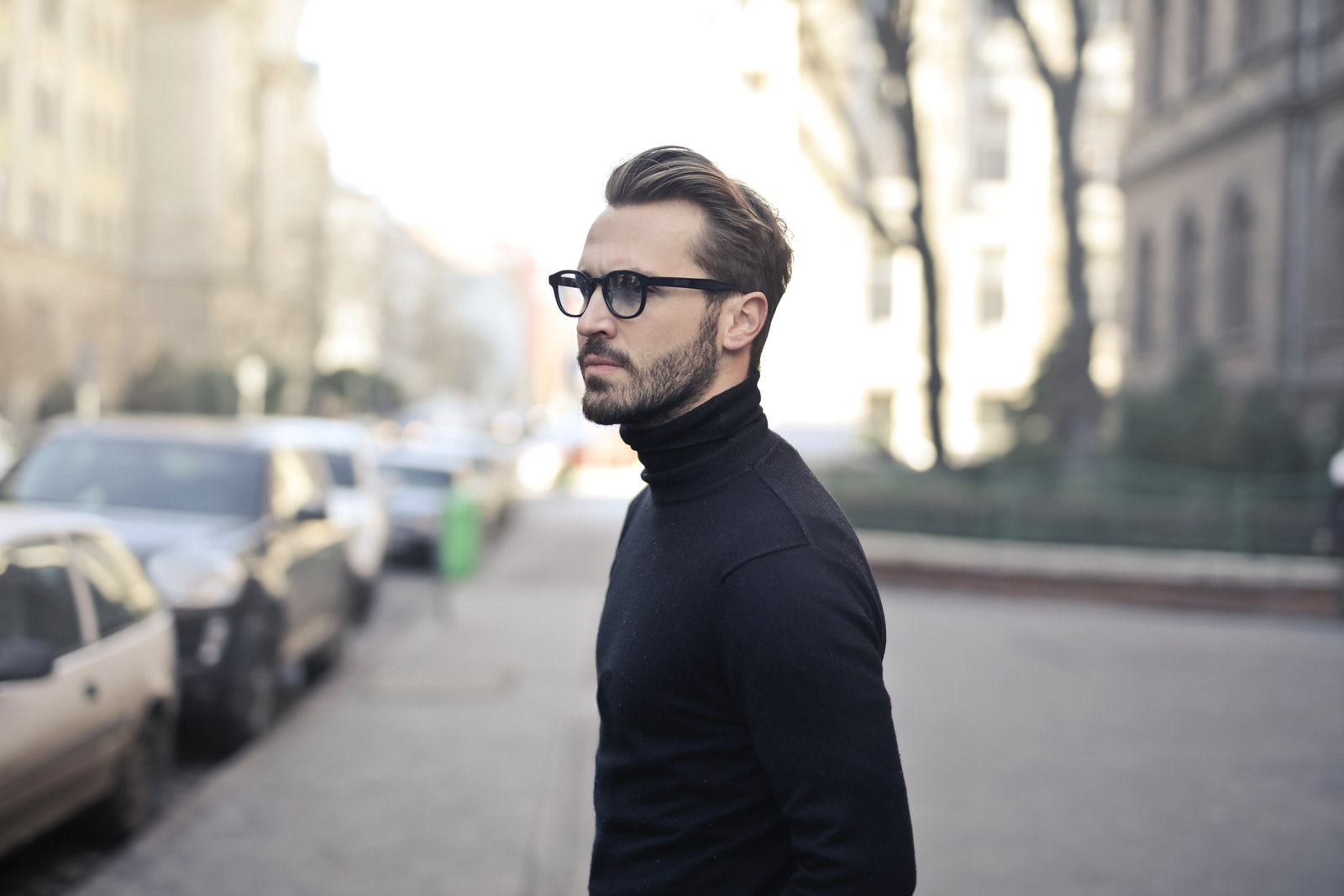 Bearded Man With Eyeglasses   How To Properly Fade Your Beard Neckline